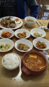 불고기덮밥과 김치찌게